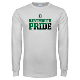 White Long Sleeve T Shirt-Dartmouth Pride