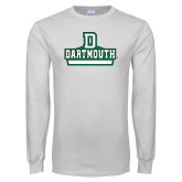 White Long Sleeve T Shirt-Dartmouth