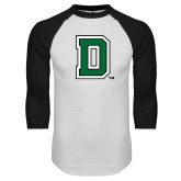 White/Black Raglan Baseball T Shirt-Primary Mark