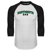 White/Black Raglan Baseball T Shirt-Dad