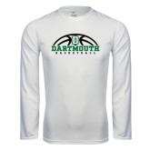 Syntrel Performance White Longsleeve Shirt-Dartmouth Basketball Half Ball