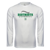 Syntrel Performance White Longsleeve Shirt-Dartmouth Baseball Stacked