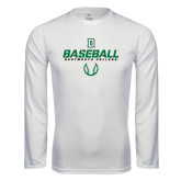 Syntrel Performance White Longsleeve Shirt-Dartmouth Baseball Stencil