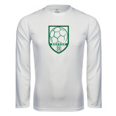 Syntrel Performance White Longsleeve Shirt-Dartmouth Soccer Shield