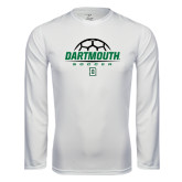 Syntrel Performance White Longsleeve Shirt-Dartmouth Soccer Stacked