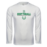 Syntrel Performance White Longsleeve Shirt-Dartmouth Softball Stencil