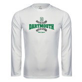 Syntrel Performance White Longsleeve Shirt-Dartmouth Softball Seams