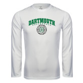 Syntrel Performance White Longsleeve Shirt-Dartmouth Volleyball Abstract Ball
