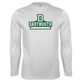 Syntrel Performance White Longsleeve Shirt-Dartmouth