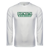 Syntrel Performance White Longsleeve Shirt-Dartmouth Big Green