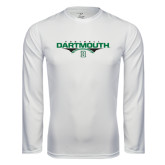 Syntrel Performance White Longsleeve Shirt-Dartmouth Football Flat