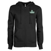 ENZA Ladies Black Fleece Full Zip Hoodie-Dartmouth