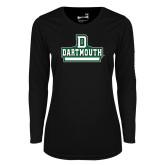 Ladies Syntrel Performance Black Longsleeve Shirt-Dartmouth