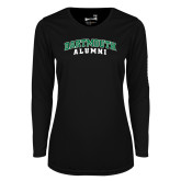 Ladies Syntrel Performance Black Longsleeve Shirt-Alumni