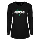 Ladies Syntrel Performance Black Longsleeve Shirt-Soccer