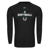 Under Armour Black Long Sleeve Tech Tee-Dartmouth Softball Stencil