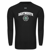 Under Armour Black Long Sleeve Tech Tee-Dartmouth Volleyball Abstract Ball