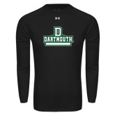 Under Armour Black Long Sleeve Tech Tee-D Dartmouth Stacked