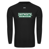 Under Armour Black Long Sleeve Tech Tee-Dartmouth Big Green
