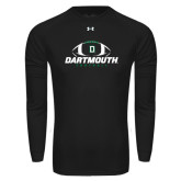 Under Armour Black Long Sleeve Tech Tee-Dartmouth Football Stacked