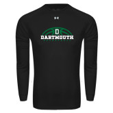 Under Armour Black Long Sleeve Tech Tee-Dartmouth Basketball Half Ball