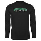 Syntrel Performance Black Longsleeve Shirt-Soccer