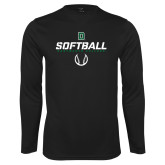 Syntrel Performance Black Longsleeve Shirt-Softball