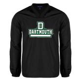 V Neck Black Raglan Windshirt-D Dartmouth Stacked