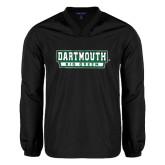 V Neck Black Raglan Windshirt-Dartmouth Big Green