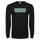 Black Long Sleeve T Shirt-Dartmouth Big Green