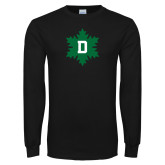 Black Long Sleeve T Shirt-D Snowflake