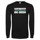 Black Long Sleeve T Shirt-Big Green