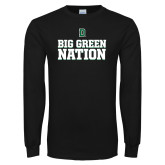 Black Long Sleeve T Shirt-Big Green Nation