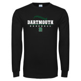 Black Long Sleeve T Shirt-Baseball