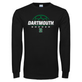 Black Long Sleeve T Shirt-Soccer