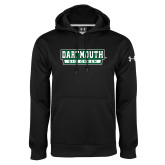 Under Armour Black Performance Sweats Team Hoodie-Dartmouth Big Green