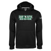 Under Armour Black Performance Sweats Team Hoodie-Dartmouth Big Green