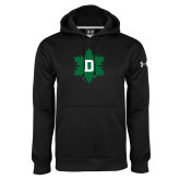 Under Armour Black Performance Sweats Team Hoodie-D Snowflake