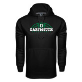 Under Armour Black Performance Sweats Team Hood-Dartmouth Basketball Half Ball