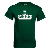 Dark Green T Shirt-D Dartmouth Stacked