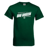 Dark Green T Shirt-Slanted Dartmouth Big Green
