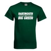 Dark Green T Shirt-Dartmouth Big Green Stacked Stripes