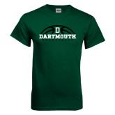 Dark Green T Shirt-Dartmouth Basketball Half Ball