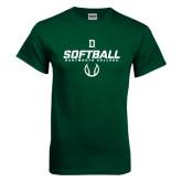 Dark Green T Shirt-Dartmouth Softball Stencil