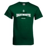 Dark Green T Shirt-Dartmouth Softball Seams