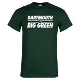 Dark Green T Shirt-Big Green