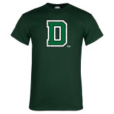 Dark Green T Shirt-Primary Mark Distressed