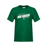 Youth Dark Green T Shirt-Slanted Dartmouth Big Green