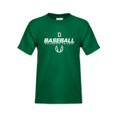 Youth Dark Green T Shirt-Dartmouth Baseball Stencil