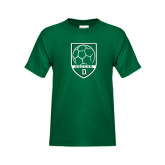 Youth Dark Green T Shirt-Dartmouth Soccer Shield